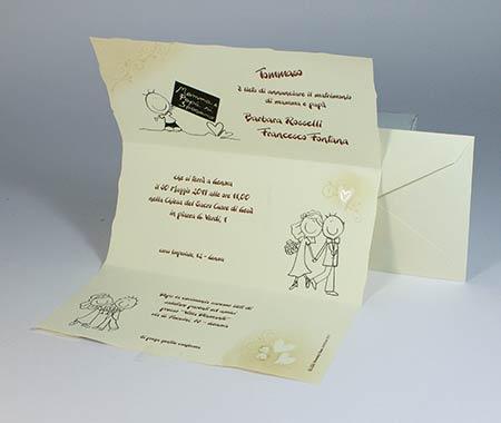 Partecipazioni Matrimonio Unico Foglio.Partecipazioni Online Oltre 200 Modelli Campione Gratis