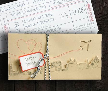 Partecipazioni Matrimonio Viaggio.Partecipazioni Matrimonio Tema Viaggio Campione Gratuito