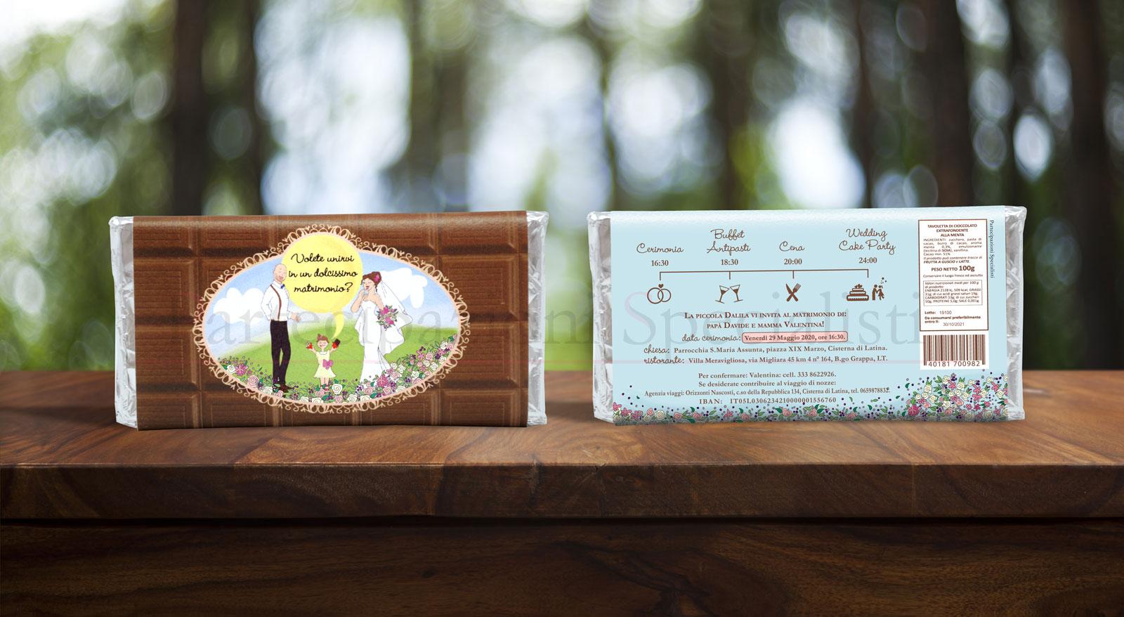 Partecipazioni Matrimonio Cioccolato.Partecipazioni Originali Personalizzate Campione Gratis