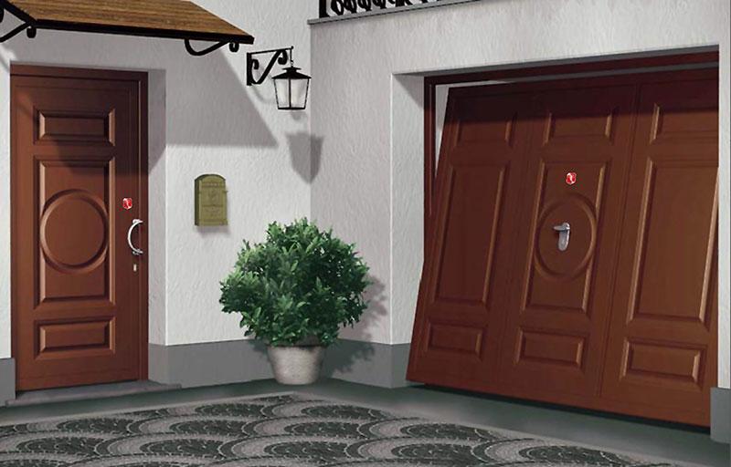 riproduzione adesivo su porta e basculante
